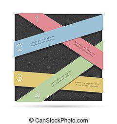 numeriert, kreativ, infographics, design, schablone, banner