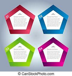 numeriert, sein, gebraucht, plan, banner, modern, linien, horizontal, /, website, vector/horizontal, graphischer entwurf, buechse, schablone, infographics, freisteller, oder