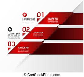 numeriert, sein, grafik, gebraucht, plan, modern, linien, horizontal, /, website, banner, vektor, design, buechse, schablone, infographics, freisteller, oder