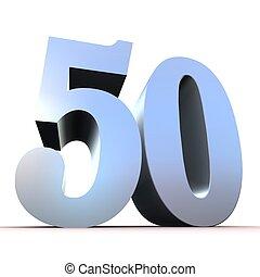 numero, -, 50, argento