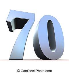 numero, -, argento, 70