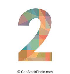 numero, colorito, due