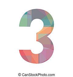 numero, colorito, tre
