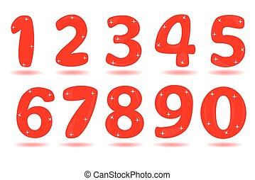 numero, da, 0, a, 9, isolato, in, bianco, fondo.