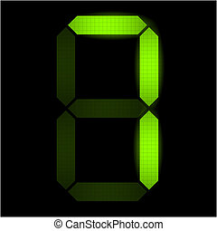 numero, digitale, sette