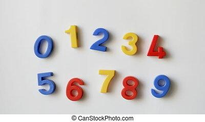 numero, magneti frigorifero