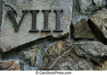 numero romano, viii, o, otto