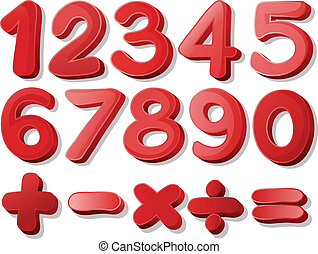 numero, rosso