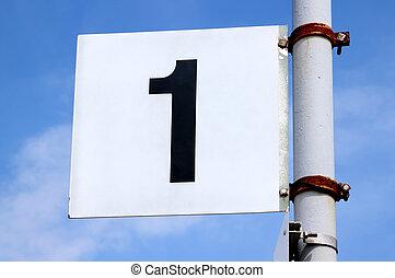 numero, segno, su, uno, britannico, ferrovia, platform.