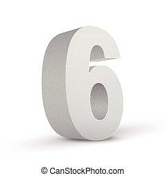 numero sei, struttura, bianco