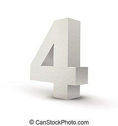 numero, struttura, quattro, bianco