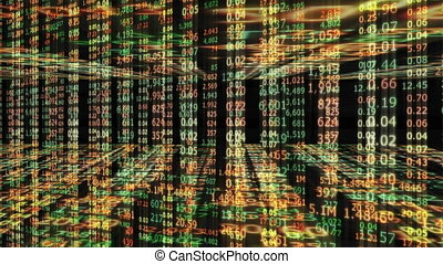 numero, wall/stock, mercato, fondo