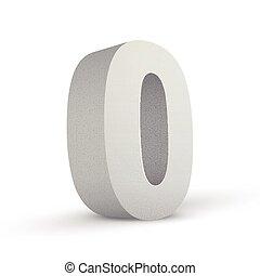 numero zero, struttura, bianco