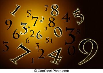 numerology, antiga, (the, science).