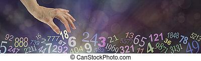Numerology Bokeh Banner
