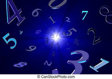 (numerology)., magisch, getallen