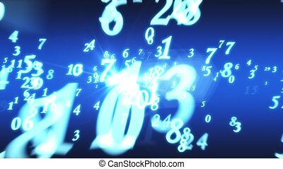 Numerology (secret knowledge about the numbers). Intro template. 3D animation
