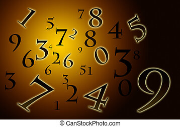 A lot of numbers on a beautiful art background.
