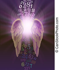 Numerology with Angel Numbers - a pair of angel wings with ...