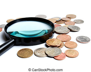 Two main things in numismatics, magnifiers and coins...