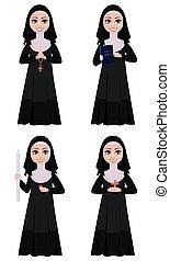 Nun cartoon character.
