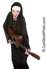 Nun With Guitar