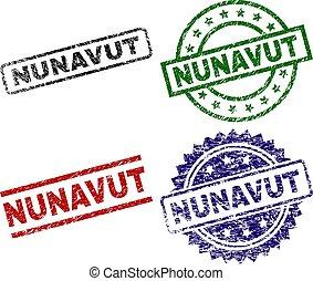 nunavut, textured, timbres, gratté, cachet