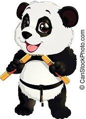 nunchaku, panda