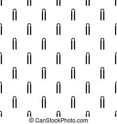 Nunchaku pattern vector