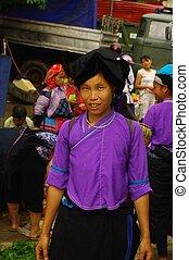 Nung black ethnic woman