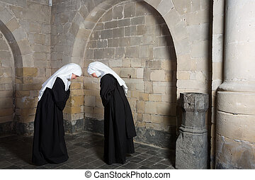 Nuns greeting