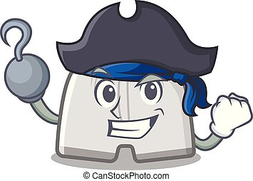 nuoto, forma, tronchi, cartone animato, pirata