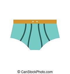 nuoto, uomini, tronchi, icona