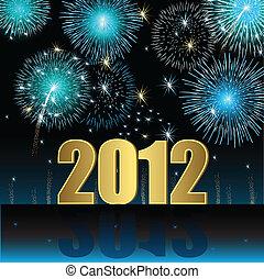 nuovo, 2012, felice, anno