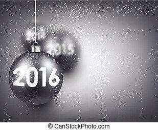 nuovo, 2016, anno, fondo.