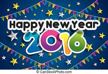 nuovo, 2016, felice, anno