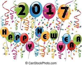 nuovo, 2017, felice, anno