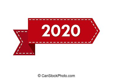 nuovo, 2020., nastro, numero, anno