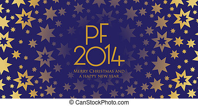 nuovo anno, tema, con, stelle