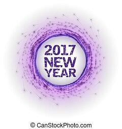 nuovo, astratto, fireworks, anno