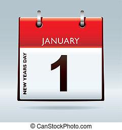 nuovo, calendario, vigilia, anni