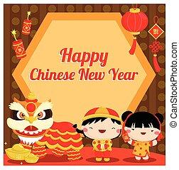 nuovo, cinese, scheda, anno