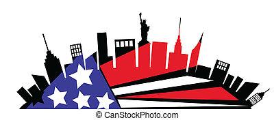 nuovo, città, york