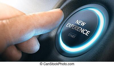 nuovo, cominciando, esperienza, affari, o