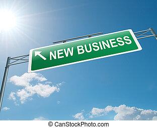 nuovo, concept., affari