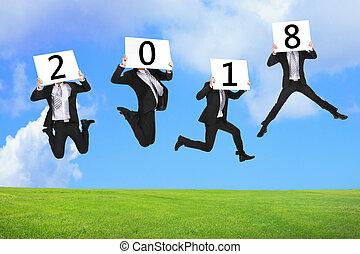 nuovo, concetto, anno