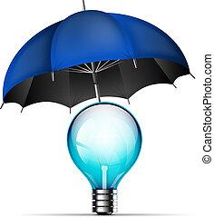 nuovo, concetto, idea, protezione, creativo