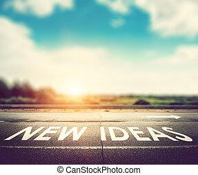 nuovo, concetto, idee