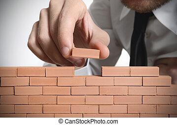 nuovo, costruire, affari