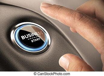 nuovo, creare, concetto, affari
